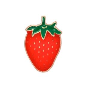 Jewelry - 5 for $25 Red Strawberry Enamel Pin